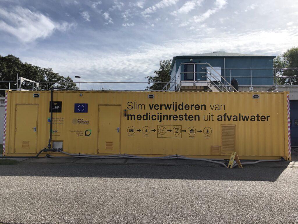 Waterschap Rijn en IJssel, Nijhuis Industries en Van Remmen UV Technology hebben een methode ontwikkeld om medicijnenresten uit afvalwater te halen. Foto: WRIJ