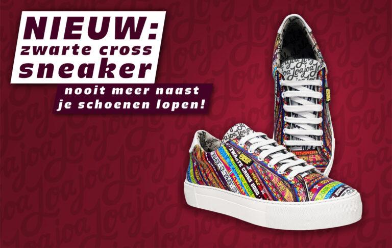 Zwarte Cross-sneakers verkrijgbaar vanaf 9 april