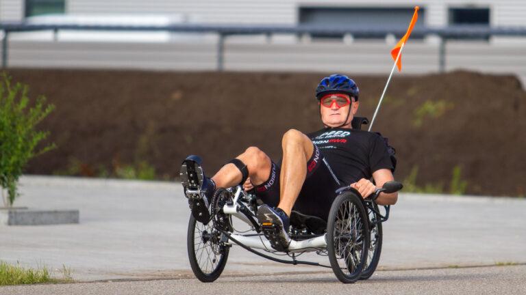Parafietser rijdt eigen'Ronde van de Achterhoek'